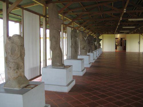 Pre Columbian Statues at Convento San Francisco in Granada