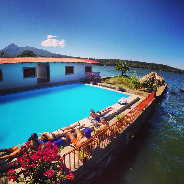 Pool on Private Island on Lake Nicaragua